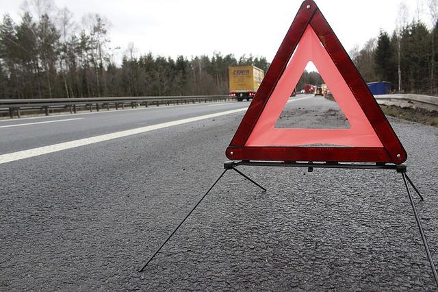 trojúhelník při nehodě