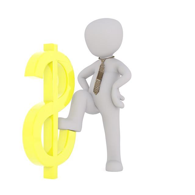 znak dolaru s panáčkem