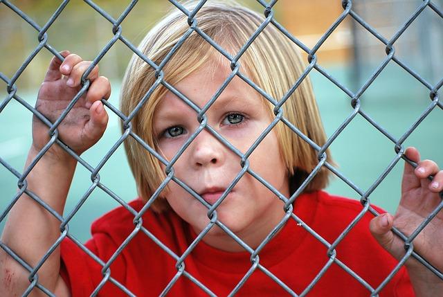 kluk za plotem