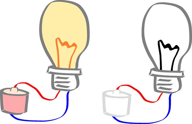 kreslené žárovky