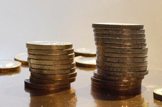 sloupečky zlatých mincí