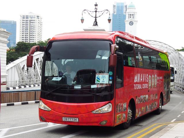 autobus na cestě