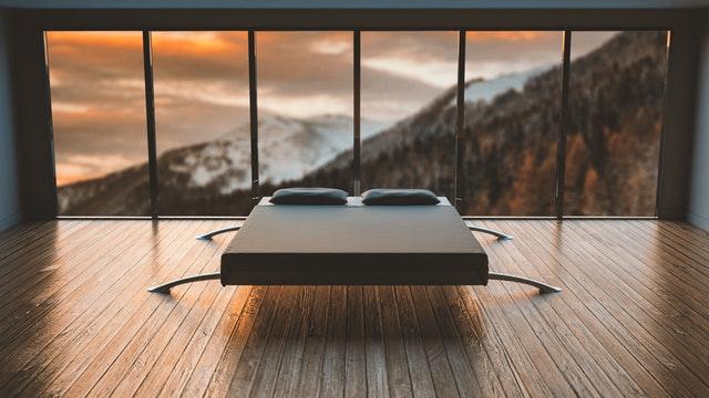 Moderní dřevěná ložnice